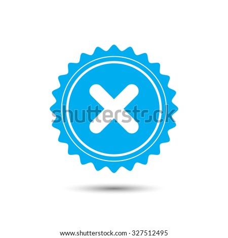 Vintage emblem medal. no icon. Classic flat icon. Vector illustration - stock vector