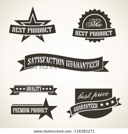 Vintage emblems and labels - stock vector