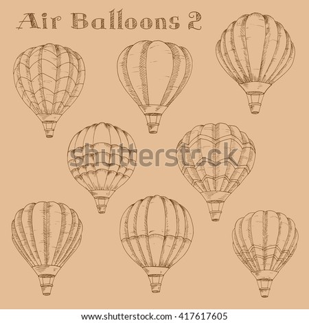 retro hot air balloon sky background stock vector 131679134 shutterstock. Black Bedroom Furniture Sets. Home Design Ideas