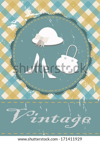 vintage female accessories - stock vector