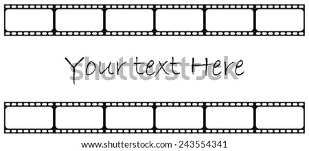 vintage film strip with copy space - vector format - stock vector