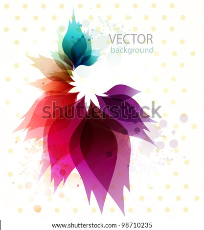 Vintage Floral abstract background.Vector. - stock vector