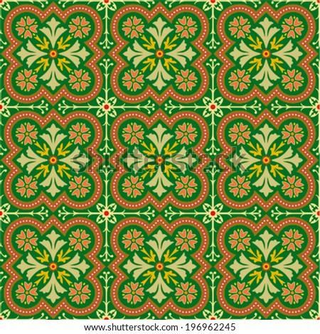 Vintage floral background pattern - stock vector