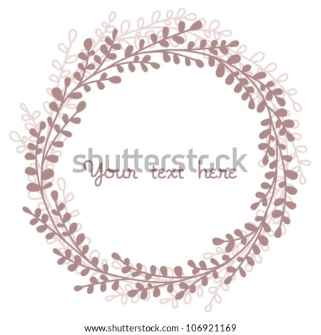 Vintage floral background. Round design element - stock vector