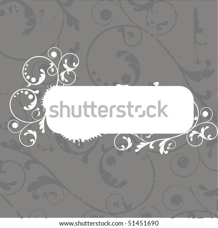 Vintage floral card with place for text. Vector.