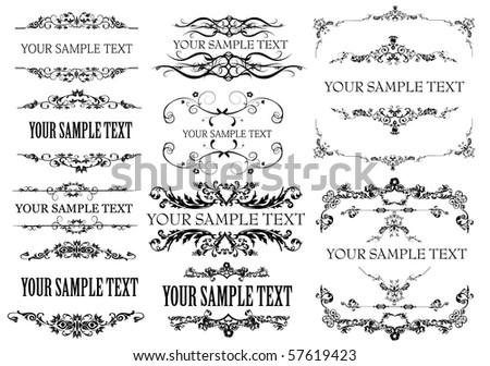 Vintage Floral frame element - vector - stock vector