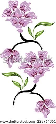 vintage floral.pattern background. - stock vector