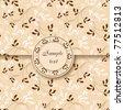 Vintage floral postcard - stock vector