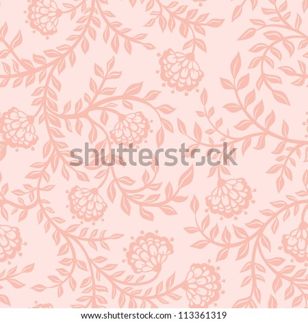 Vintage floral seamless pattern. Vector. Seamless texture with flowers. Endless floral pattern. - stock vector