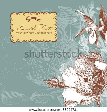 vintage flower background - stock vector