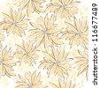 vintage flower spring seamless background - stock vector