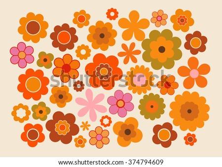 Vintage Flowers - stock vector