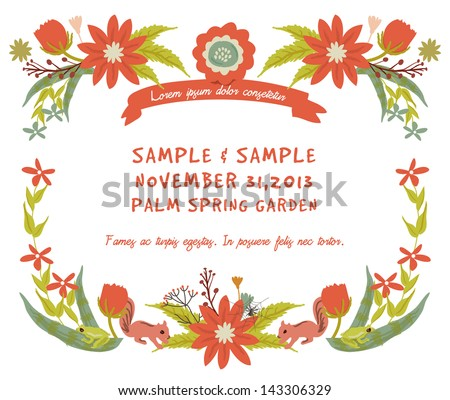 Vintage Flowers Frame 2 - stock vector