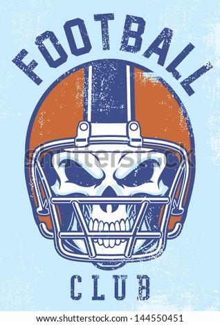 vintage football club design - stock vector