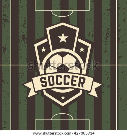 Vintage Football Sign On Field Vector Stock 427805914