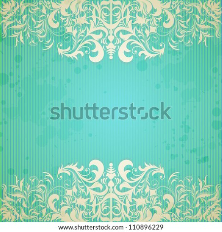 Vintage frame and grungy paper for design - stock vector