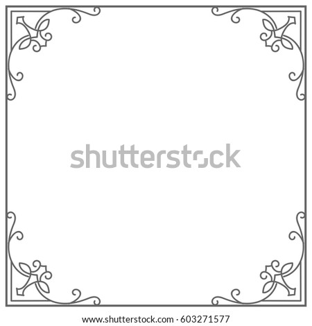 Vintage Frame Border Divider For Your Design Menu Website Certificates Document