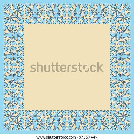 vintage frame design neutral colors - stock vector