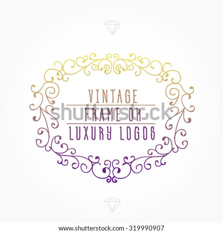 Vintage frame luxury logos greeting cards stock vector 319990907 vintage frame for luxury logos greeting cards restaurant boutique business and hotel m4hsunfo