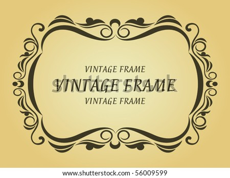 Vintage frame. Jpeg version also available in gallery