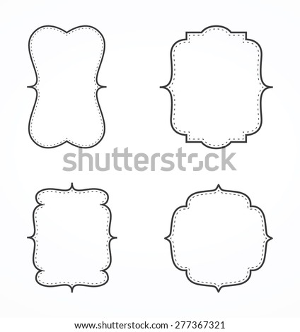 Vintage frame set - stock vector