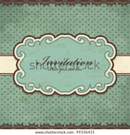 Vintage frame template (37) - stock vector