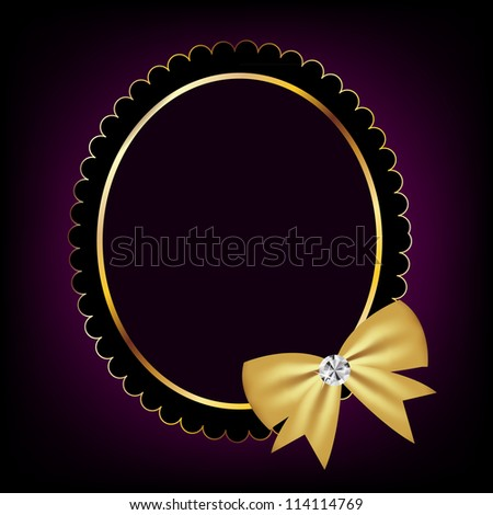 vintage frame with bow. Vector illustration. EPS 10.