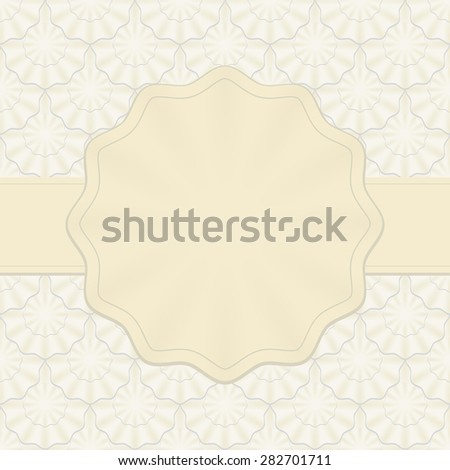 vintage frame with decorative pattern