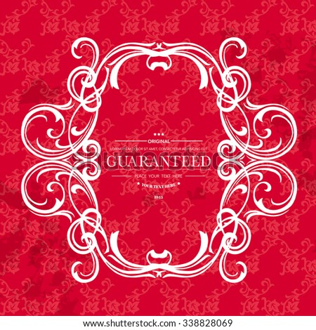 Vintage frame with place for your text.Elegant element for design template.Romantic background.Vector illustration - stock vector