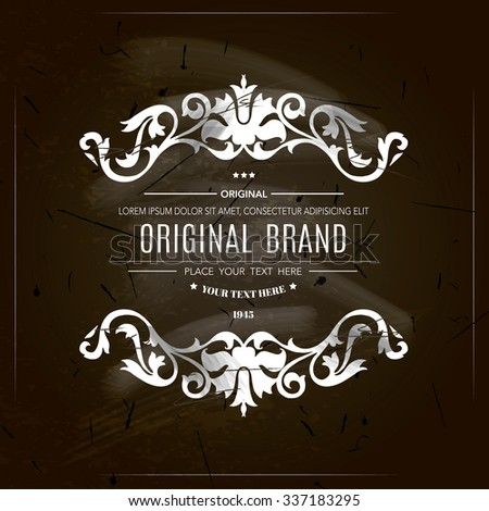 Vintage frame with place for your text.Elegant element for design template.Vector illustration