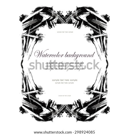 Vintage frame with place for your text. Gothic style.Elegant element for design template.Vector illustration - stock vector