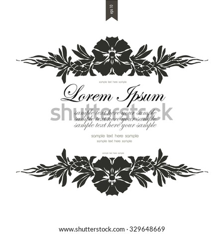 Vintage frame with place for your text. Victorian style.Elegant element for design template.Vector illustration - stock vector