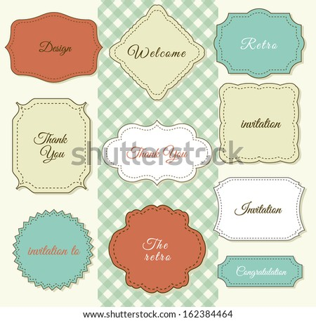Vintage Frames On Shabby Chic Background Printing Fabric And Paper