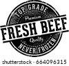 Vintage Fresh Beef Meat Market Sign