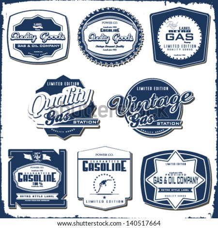 vintage gasoline retro signs and labels gas station