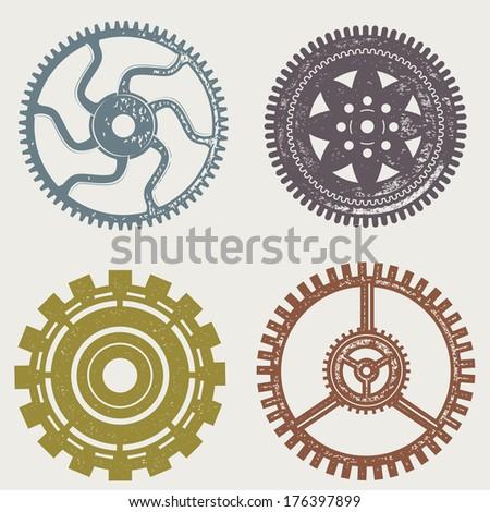 Vintage Gears - stock vector