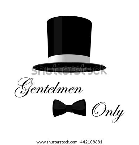 Vintage gentlemen club logo, gentlemen label, design elements for projects, cards, invitation. Gentleman classic illustration - stock vector