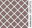 Vintage geometric white, pink and gray seamless pattern - stock vector