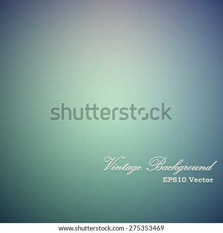 Vintage green and blue vignette vector background. - stock vector