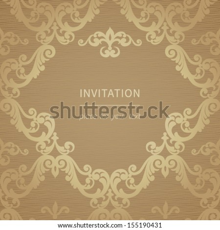 Vintage vector background paper border decoration stock for Paper swirl decorations