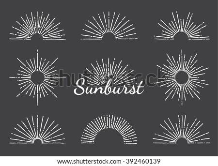 Sunbeam Set Stock Vectors & Vector Clip Art   Shutterstock