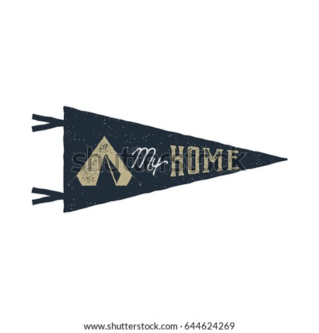 college football pennant banner icon sport stock vector 343316174