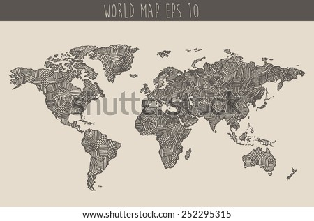 World Map Drawing Stock Images RoyaltyFree Images Vectors - Sketch drawing us with states map