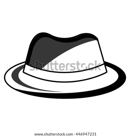vintage hat with loop front view over isolated background, fashion concept, vector illustration  - stock vector