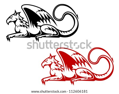 Vintage heraldic griffin symbols for heraldry design, such a logo. Jpeg version also available in gallery - stock vector