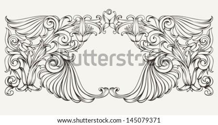 Vintage High Ornate Frame Background - stock vector