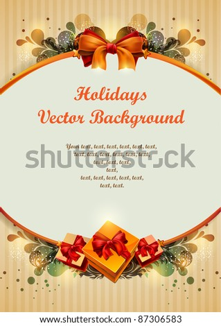 Vintage holiday vector. - stock vector