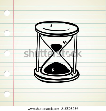 vintage hour glass - stock vector