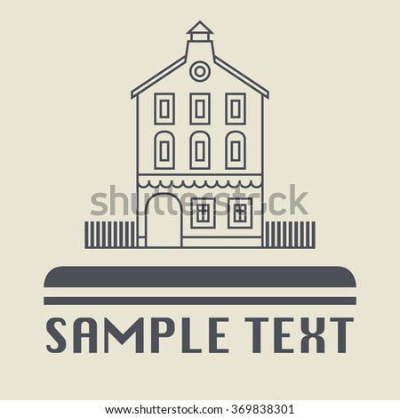 Vintage house icon or sign, vector illustration - stock vector