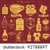 vintage icon label collection set 2 - stock vector